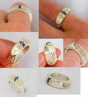 natural sapphire crystal ring by nonomie