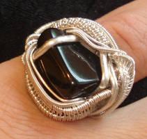 black tourmaline ring by nonomie
