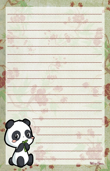 Panda Stationery by melissah84