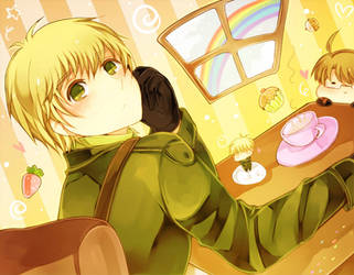APH: Tea time by RuminE