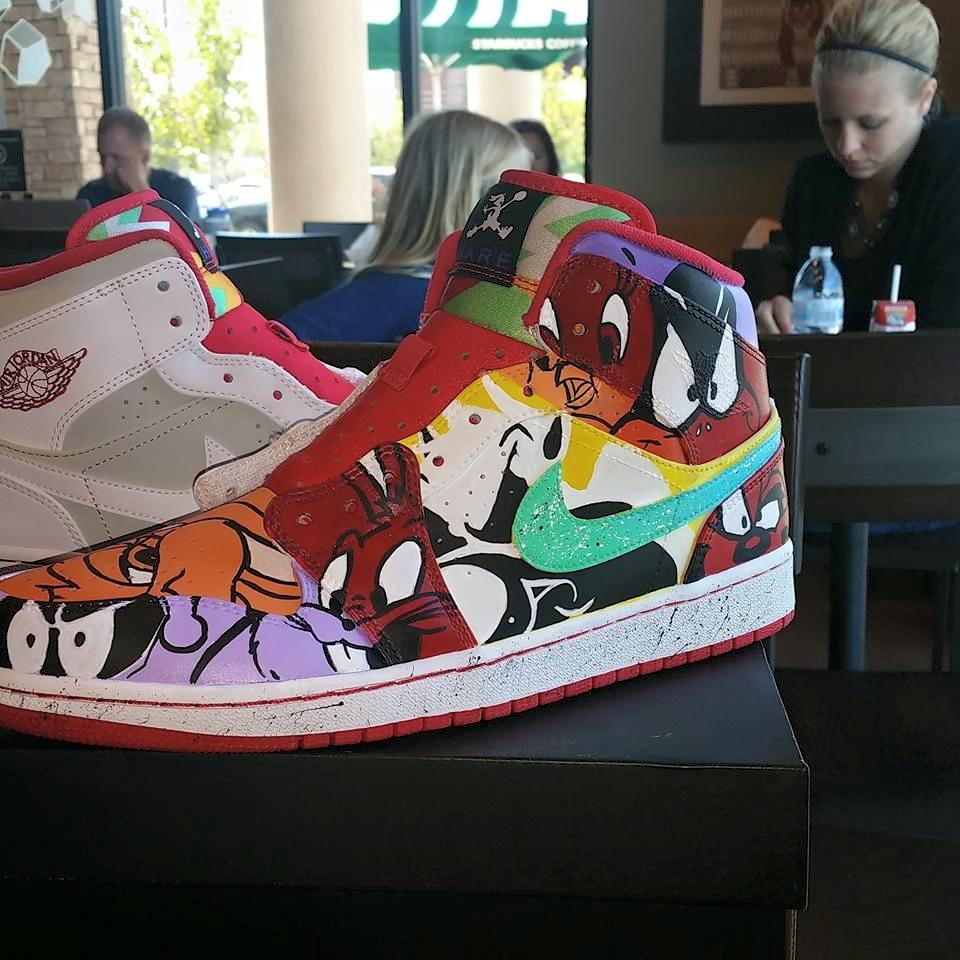 Custom Looney Tunes Jordan Hares By Vanimecustoms