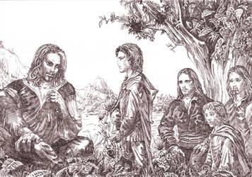 Frodo and Faramir by Venlian