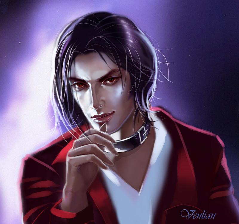 Vampire portrait by Venlian