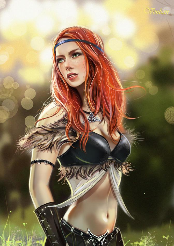 Celtic girl by Venlian