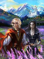 King Arthur and Merlin by Venlian