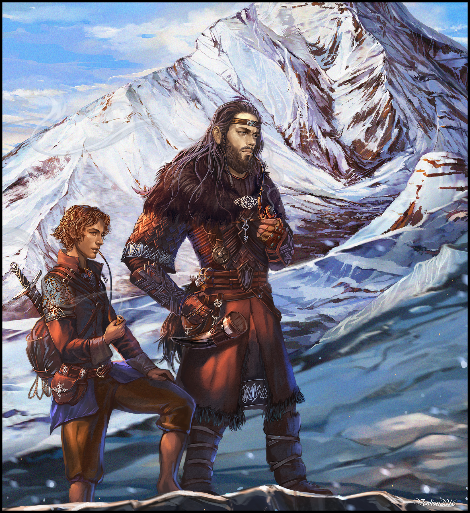 On the Doorstep: Thorin and Bilbo