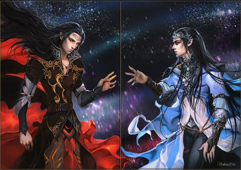 Feanor and Fingolfin Reunion