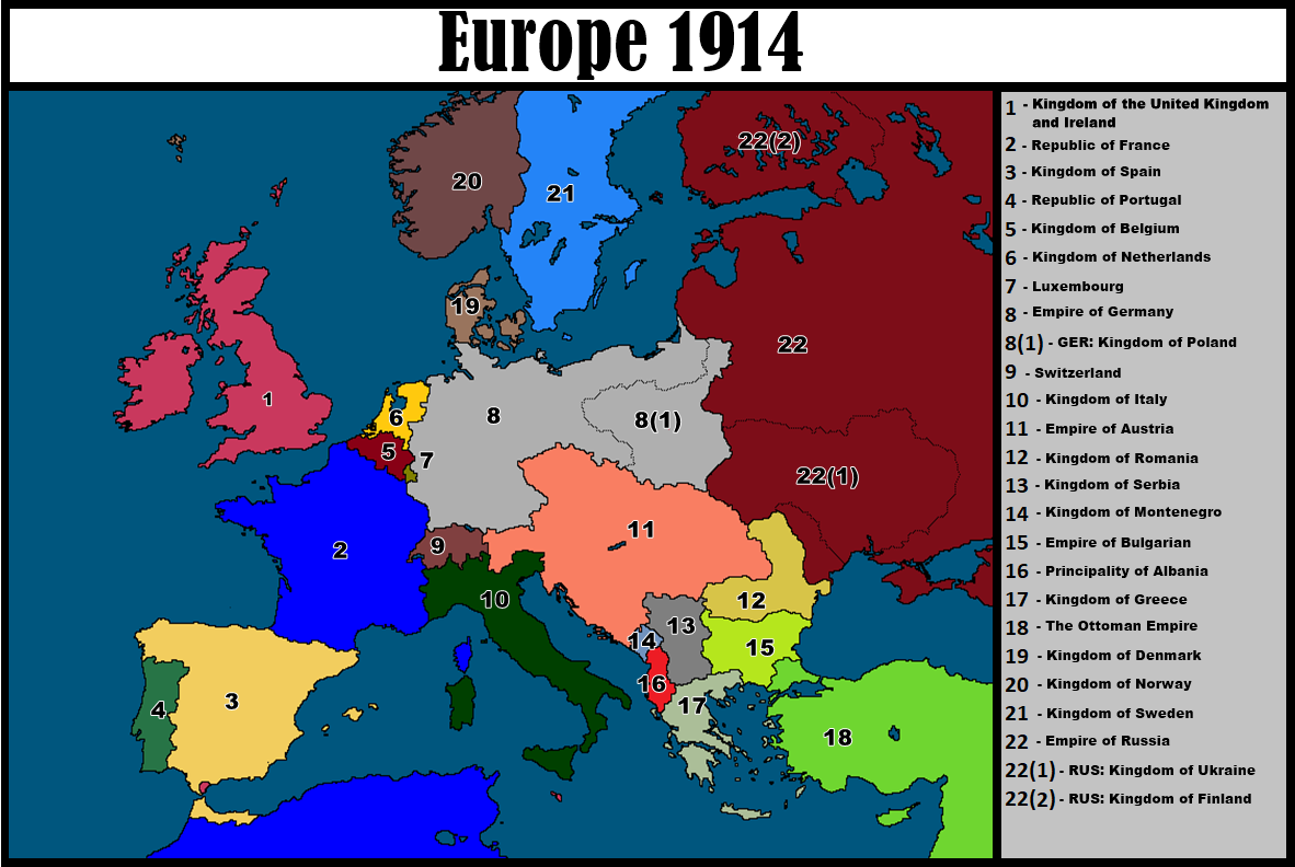 Alternative Map Of Europe From 1914 By Radogost2019 On Deviantart