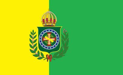 The new flag of the empire of Brazil by Radogost2019