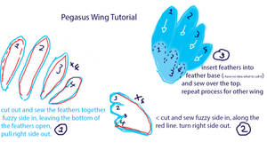 Pegasus Wing Tutorial and pattern
