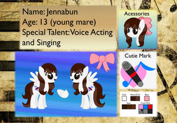 Jennabun reference sheet by Cinnamon-scroll
