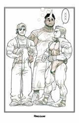 Nur, Dan and Kev by reeddune