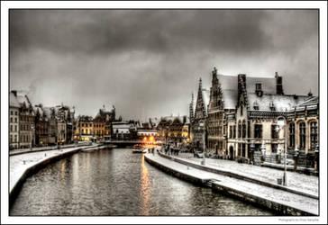 Snow In Ghent II by OnayGencturk