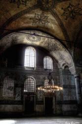 Hagia Sophia interior by OnayGencturk