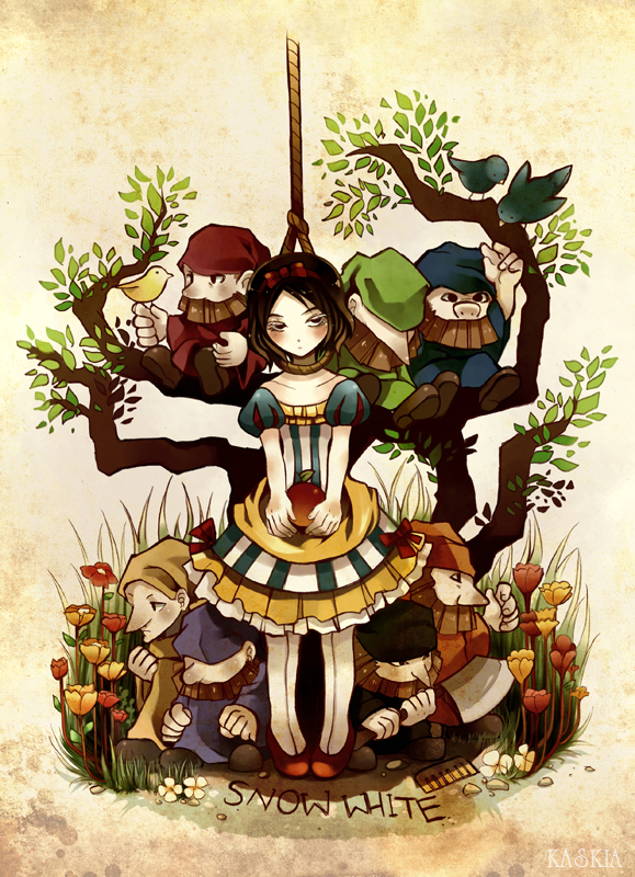 Snow white and seven dwarfs by kaskianioh