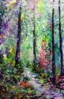 Forest Trail by MyriyevskyyArtStudio