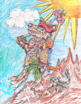 3d Fool Werewolf Paisley
