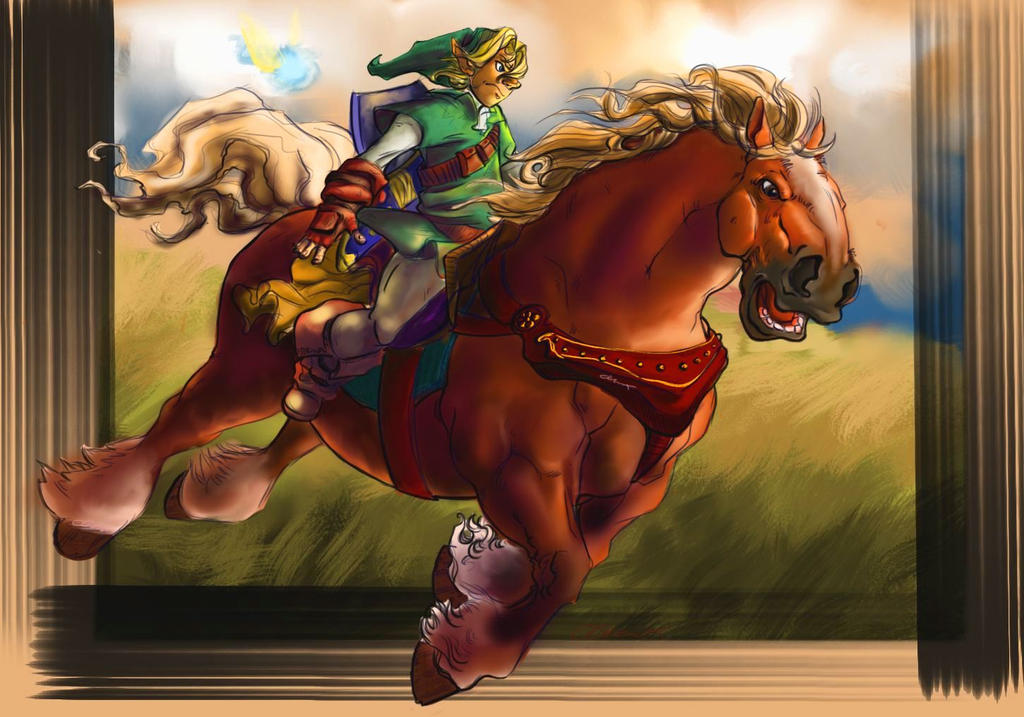 Link and Epona Fin by darkfox907
