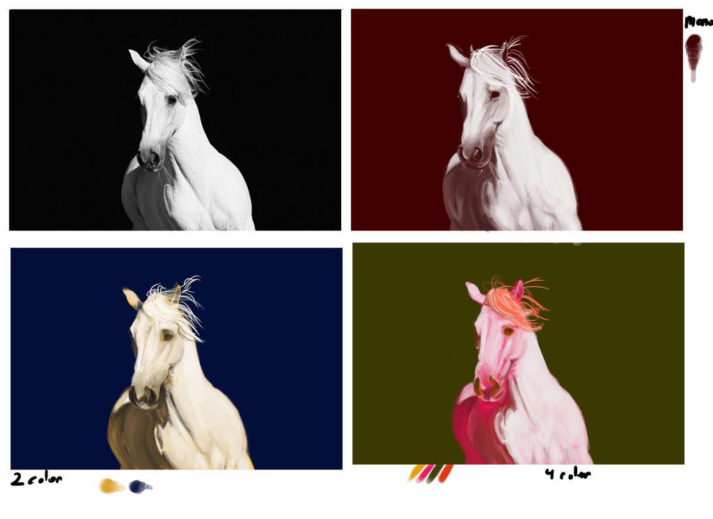 Horses Color study by darkfox907