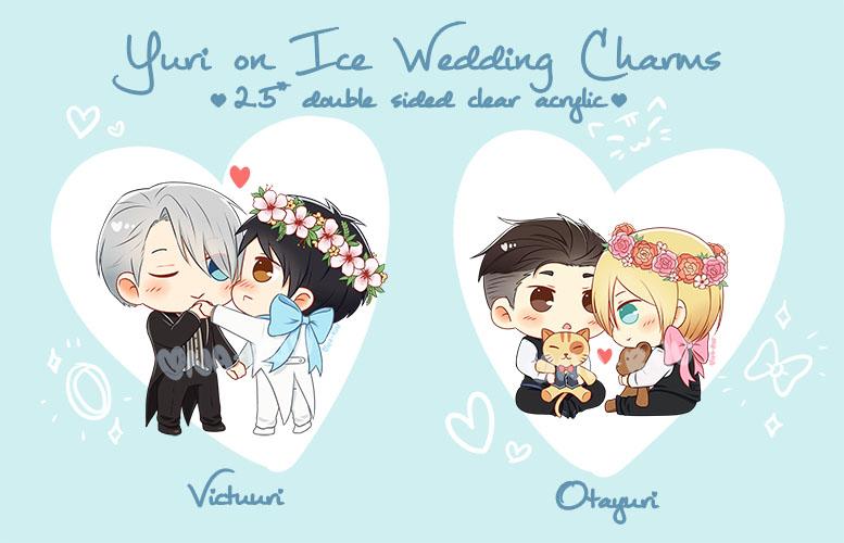 PREORDER Yuri on Ice Wedding Charms by Naruukun on DeviantArt