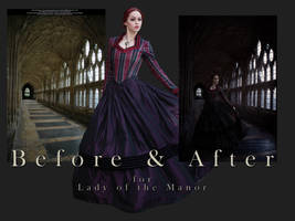 Lady of the Manor - Before and After by slight-art-obsession