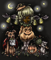 Halloween Coloring Contest 2014 - The Second by MelitaGermaine