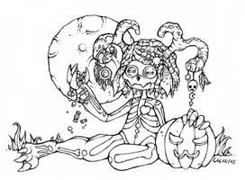 Inktober #2: Wendigo Doll