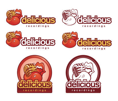 Delicious Recording logo declensions by Snakieball