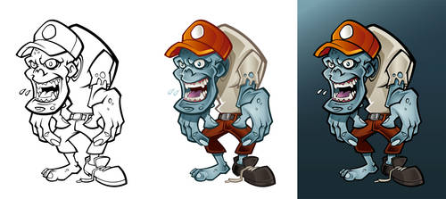 Character concept zombie by Snakieball