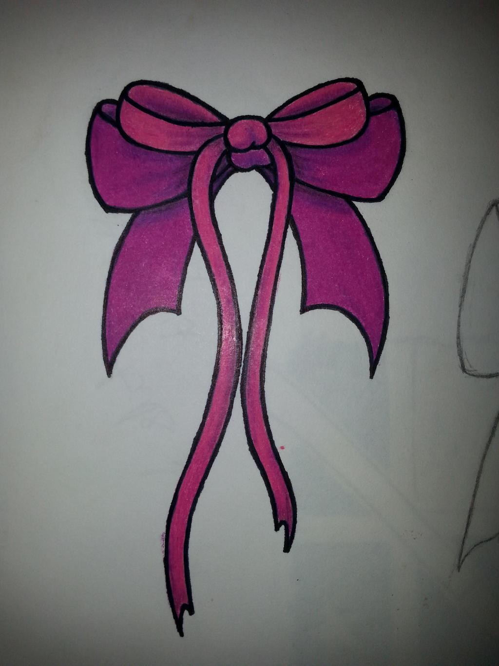 bow tattoo design pink by ink side on deviantart. Black Bedroom Furniture Sets. Home Design Ideas