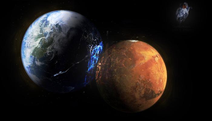 moon shots of earth and mars - photo #34