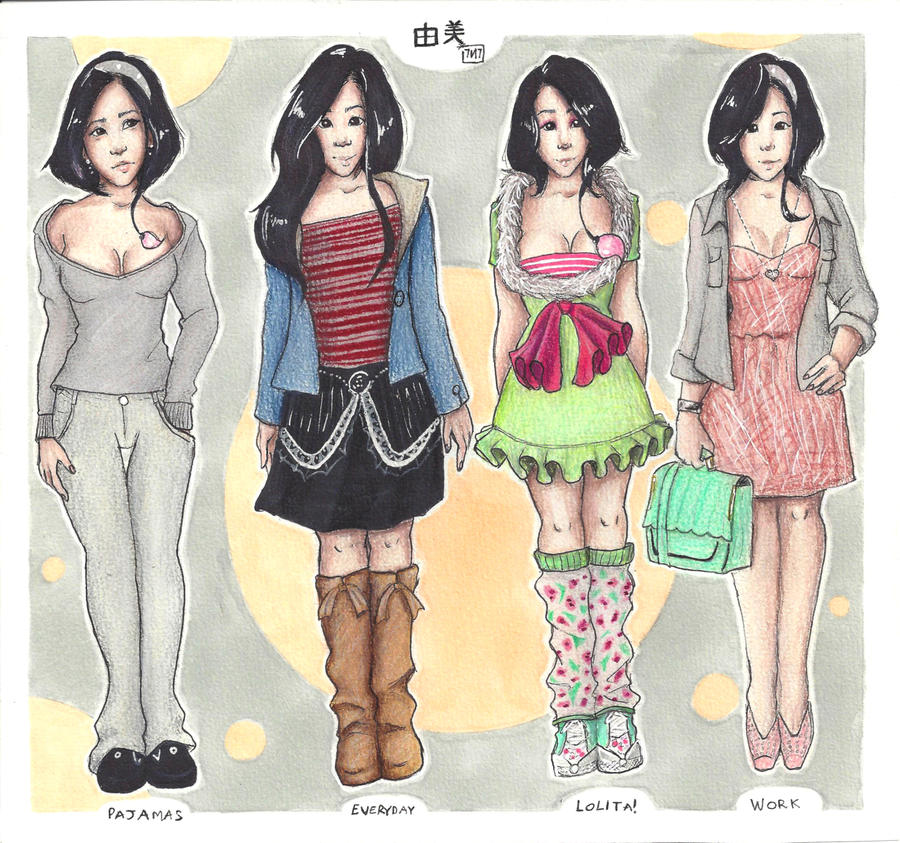 +4 Clothing styles- Yumi 01+ by Sevenlole