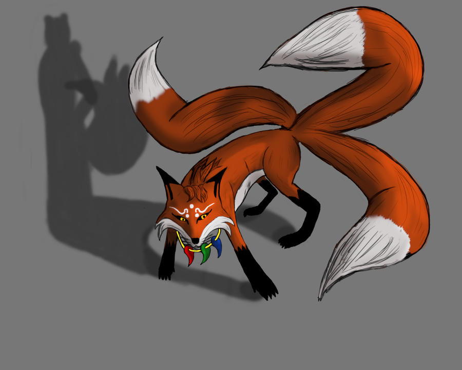 It's just an image of Luscious Demon Fox Drawing