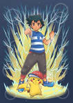 .z move / ash and pikachu