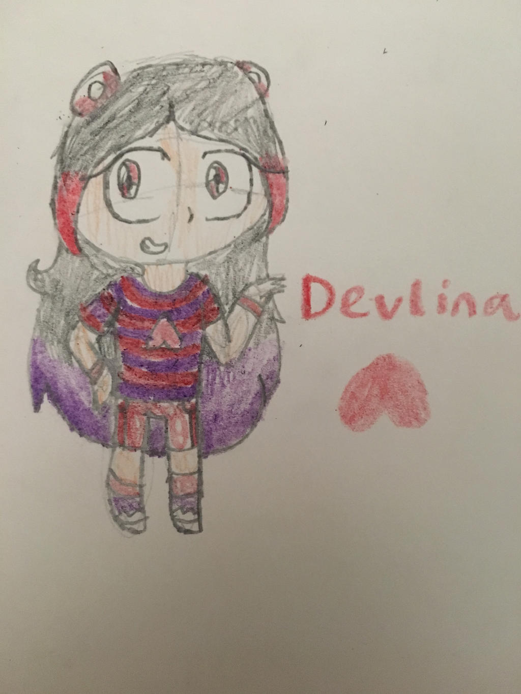Old oc redesign [Devlina] by OctoWeeb