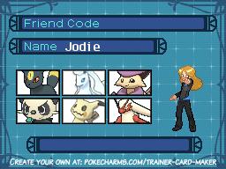 Jodie Pokemon trainer card by OctoWeeb