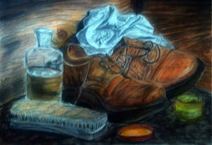 Shoes - still life painting