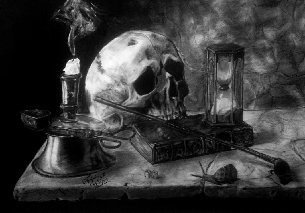Still life Charcoal Drawing by mahmoud-elshobaky on DeviantArt