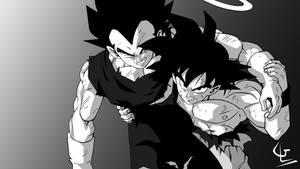 Son Goku and Vegeta