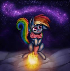 Campfire Dashie under the Stars