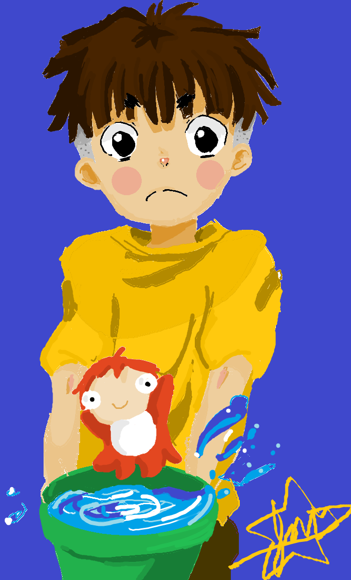 Ponyo and sosuke by JoJoBania on DeviantArt