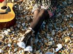 mayas feet and my guitar by randomalice