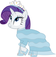 An Evening Gown for Rarity by AtomicMillennial