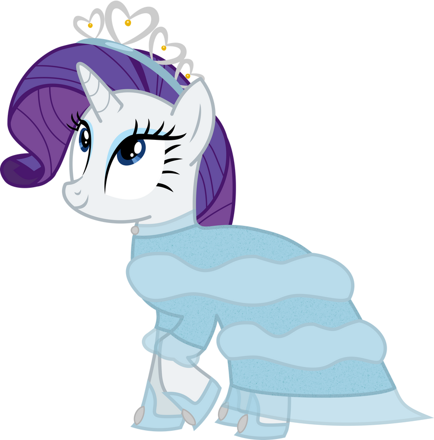 An Evening Gown for Rarity by AtomicMillennial on DeviantArt