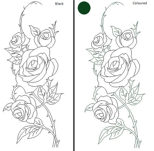Line Art Of Rose : Rose line art by darkloner on deviantart