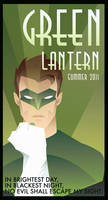 GREEN LANTERN art deco