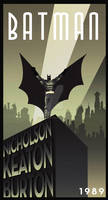 BATMAN MOVIE art deco