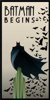 BATMAN BEGINS art deco
