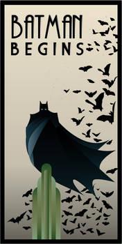 BATMAN BEGINS art deco