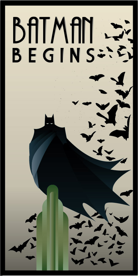 BATMAN BEGINS art deco by rodolforever
